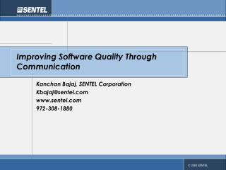 Improving Software Quality Through Communication
