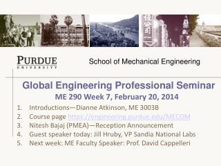 Global Engineering Professional Seminar