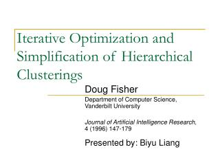 Iterative Optimization and Simplification of Hierarchical Clusterings
