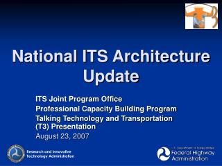 National ITS Architecture Update