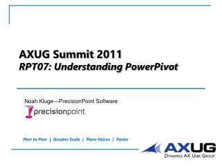AXUG Summit  2011 RPT07: Understanding  PowerPivot