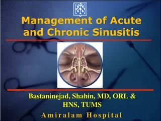 Management of Acute and Chronic Sinusitis