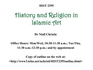 HIST 2295 History and Religion in Islamic Art