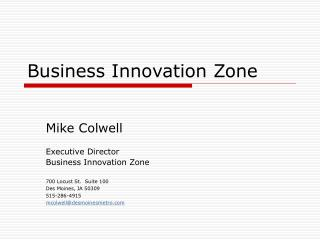 Business Innovation Zone