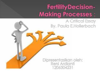 FertilityDecision- Making Processes  :
