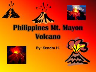 Philippines Mt.  Mayon  Volcano