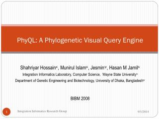 PhyQL: A Phylogenetic Visual Query Engine