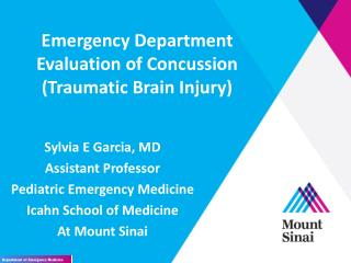 Emergency Department Evaluation of Concussion (Traumatic Brain Injury)