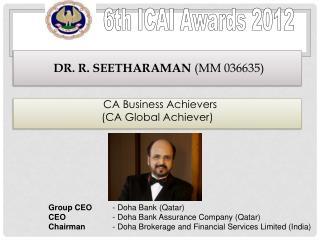 Dr. R. Seetharaman (MM 036635)