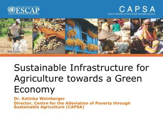 Sustainable Infrastructure for Agriculture towards a Green Economy
