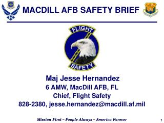 MACDILL AFB SAFETY BRIEF