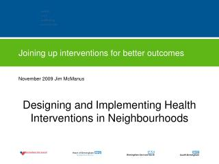 Joining up interventions for better outcomes