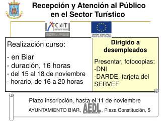 Recepción y Atención al Público en el Sector Turístico