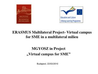 ERASMUS Multilateral Project- Virtual campus for SME in a multilateral milieu