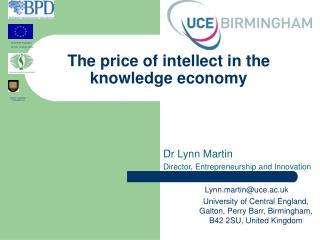 The price of intellect in the knowledge economy