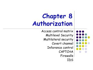 Chapter 8 Authorization