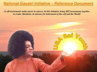 National Gayatri Initiative – Reference Document