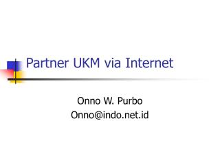 Partner UKM via Internet