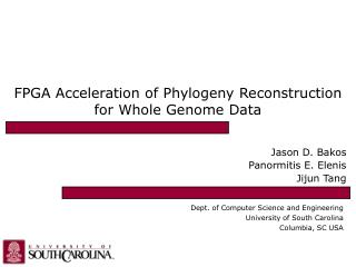 FPGA Acceleration of Phylogeny Reconstruction for Whole Genome Data