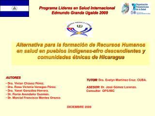 Programa Líderes en Salud Internacional       Edmundo Granda Ugalde 2009