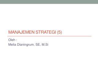 Manajemen Strategi  (5)