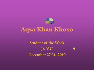 Aqsa Khan Khoso