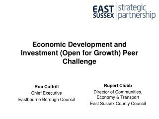 Economic Development and Investment (Open for Growth) Peer Challenge