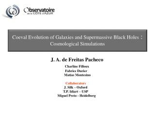 Coeval Evolution of Galaxies and Supermassive Black Holes  :  Cosmological Simulations