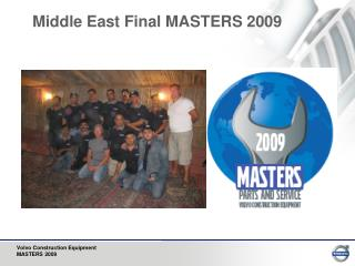 Middle East Final MASTERS 2009