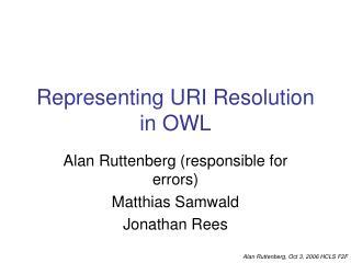 Representing URI Resolution in OWL