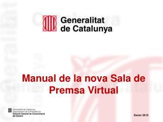 Manual de la nova Sala de Premsa Virtual