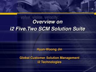 Overview on  i2 Five.Two SCM Solution Suite