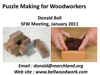 Puzzle Making for Woodworkers