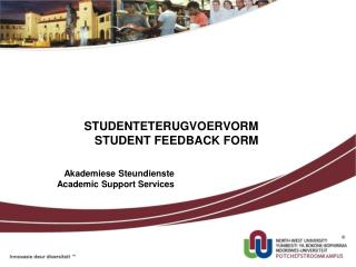 Akademiese Steundienste Academic Support Services