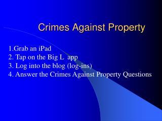 Crimes Against Property