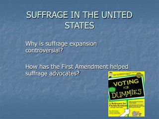 SUFFRAGE IN THE UNITED STATES