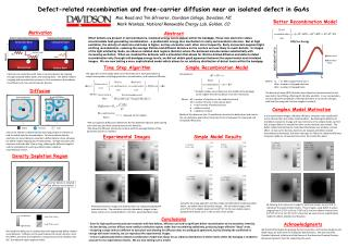 Defect-related recombination and free-carrier diffusion near an isolated defect in GaAs