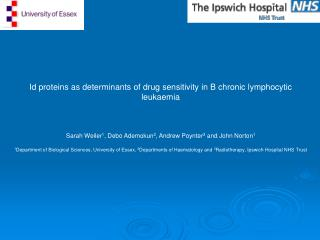 Id proteins as determinants of drug sensitivity in B chronic lymphocytic leukaemia