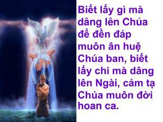 Ân huệ Chúa theo con trong từng hơi thở  (a ha).   Từ ban mai cho đến hoàng hôn cuộc đời  (á ha).