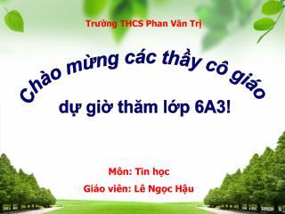 Trường THCS Tư thục Lê Quý Đôn