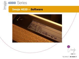 Imaje 4020 –  Software