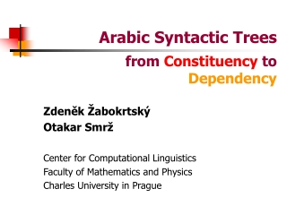 Arabic Syntactic Trees