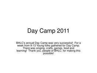 Day Camp 2011