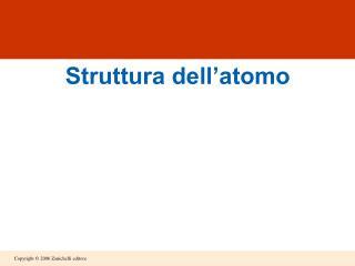 Struttura dell'atomo