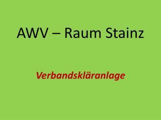 AWV – Raum Stainz