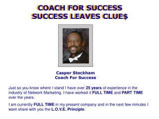 Casper Stockham Coach For Success