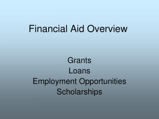 Financial Aid Overview