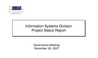 Governance Meeting November 20, 2007