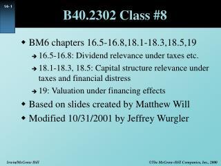 B40.2302 Class #8