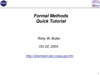 Formal Methods Quick Tutorial